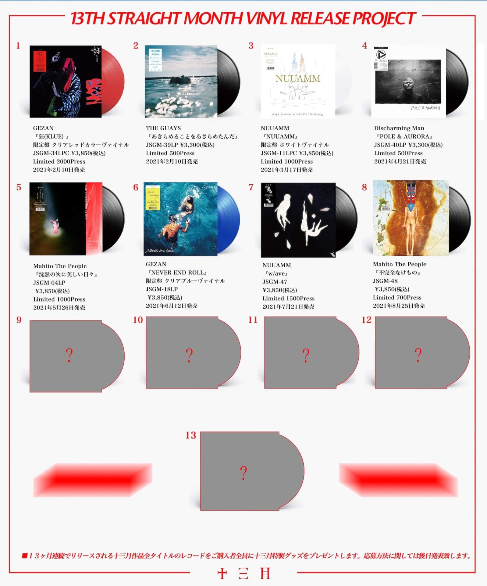 〈十三月〉13ヶ月連続レコードリリースプロジェクト第8弾!マヒトゥ・ザ・ピーポーの3rdアルバム『不完全なけもの』に決定 music210714_mahitothepeople_2
