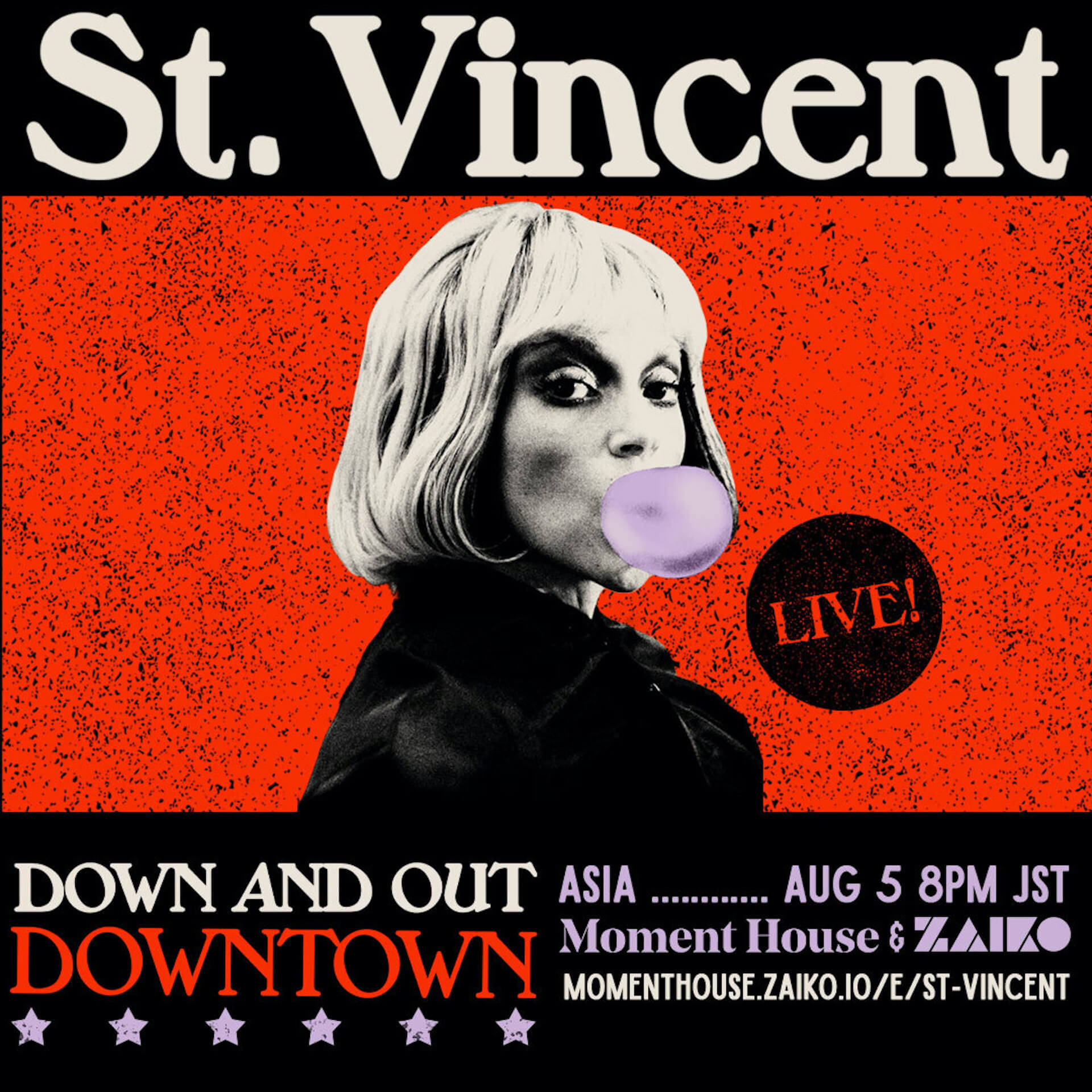 St. Vincent初のオンラインコンサート<DOWN AND OUT DOWNTOWN>が開催決定! culture_210714_St.Vincent3