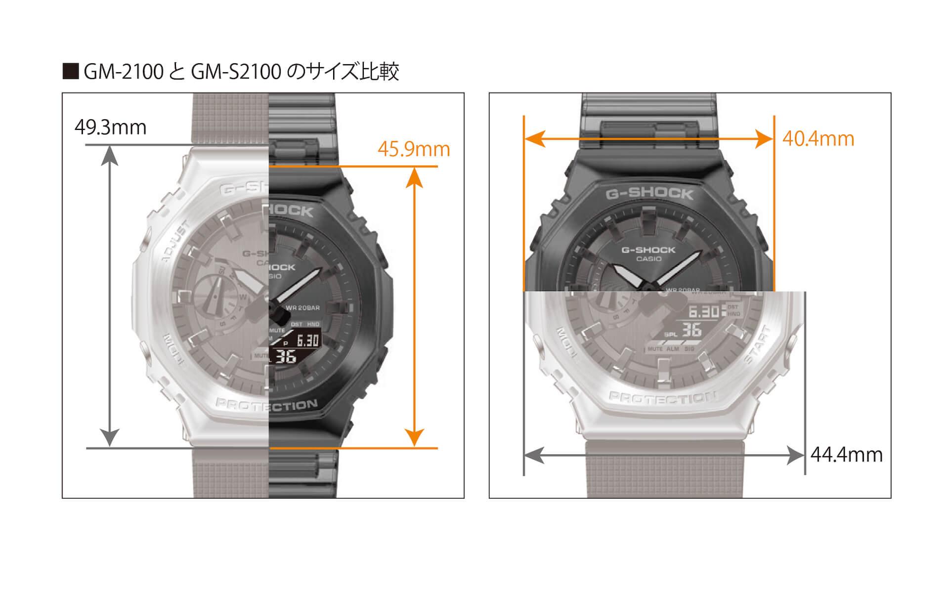 G-SHOCKにメタルベゼルを採用した新モデル2種が登場!『GM-2100』&『GM-S2100』が発売決定 tech210715_gshock_metal_8
