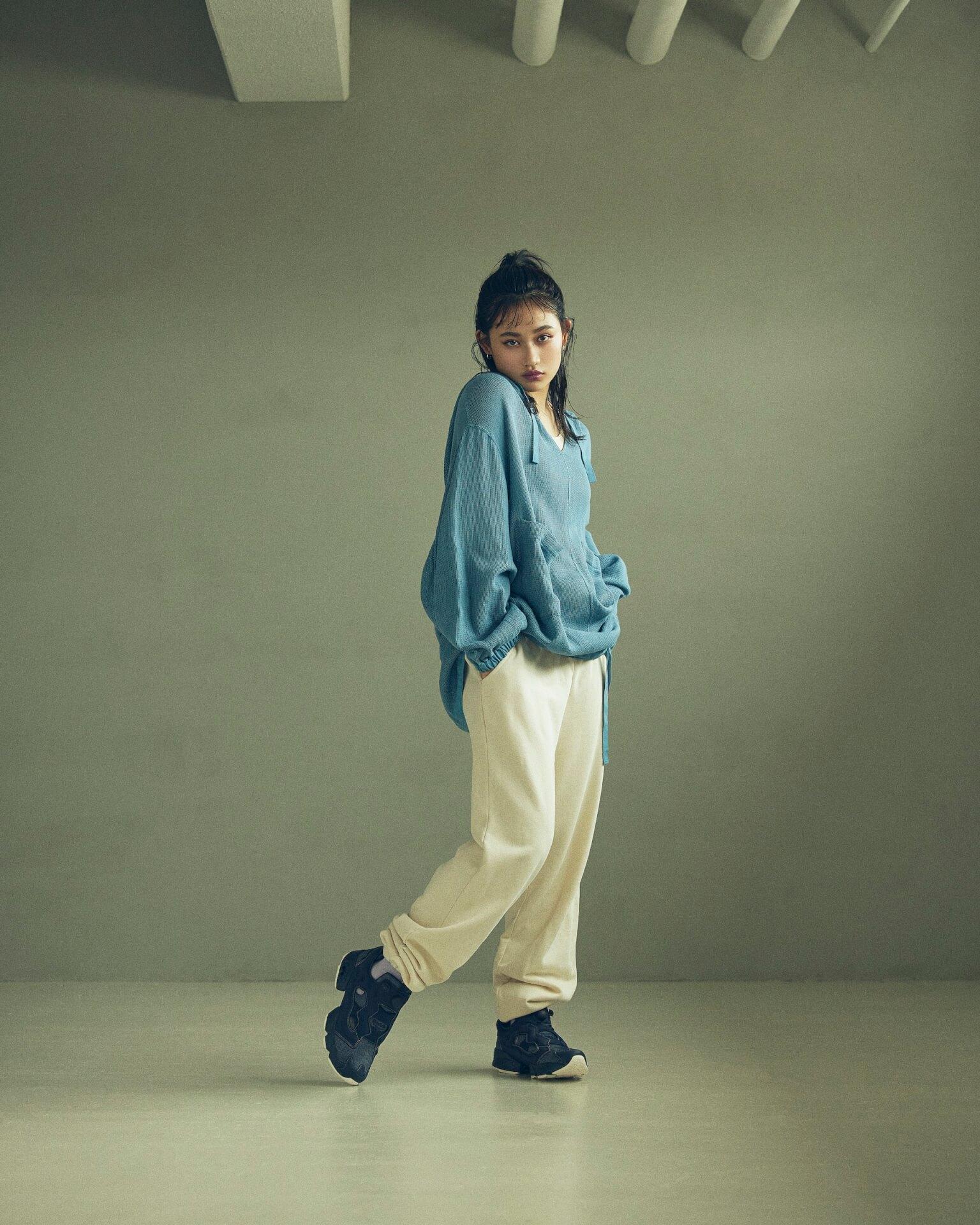 ReebokからリアルなデニムをイメージしたINSTAPUMP FURYの「DENIM PACK」が発売!櫻井海音とアンジュルム佐々木莉佳子がルックに登場 Fashion_210719_denimpack4