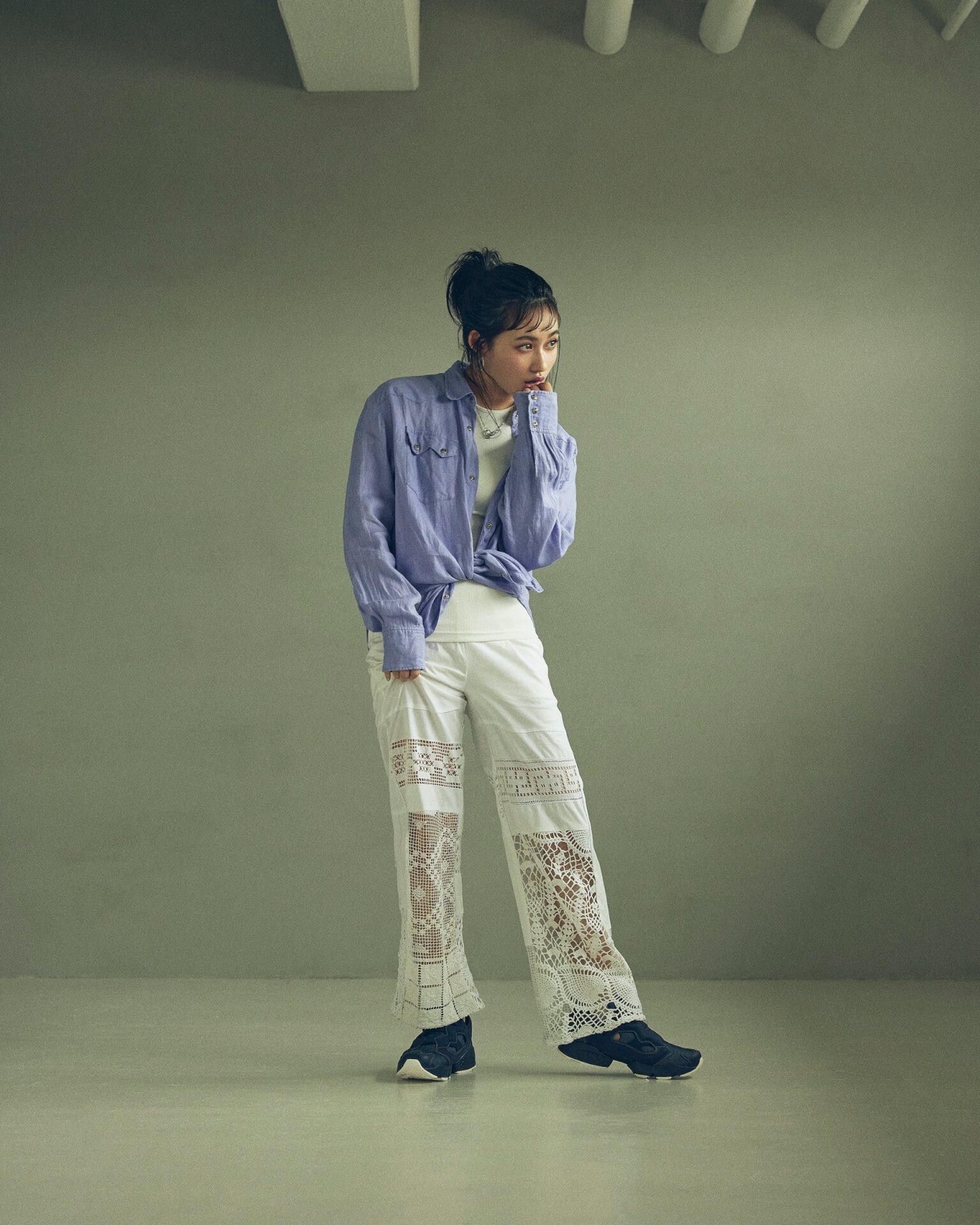 ReebokからリアルなデニムをイメージしたINSTAPUMP FURYの「DENIM PACK」が発売!櫻井海音とアンジュルム佐々木莉佳子がルックに登場 Fashion_210719_denimpack6