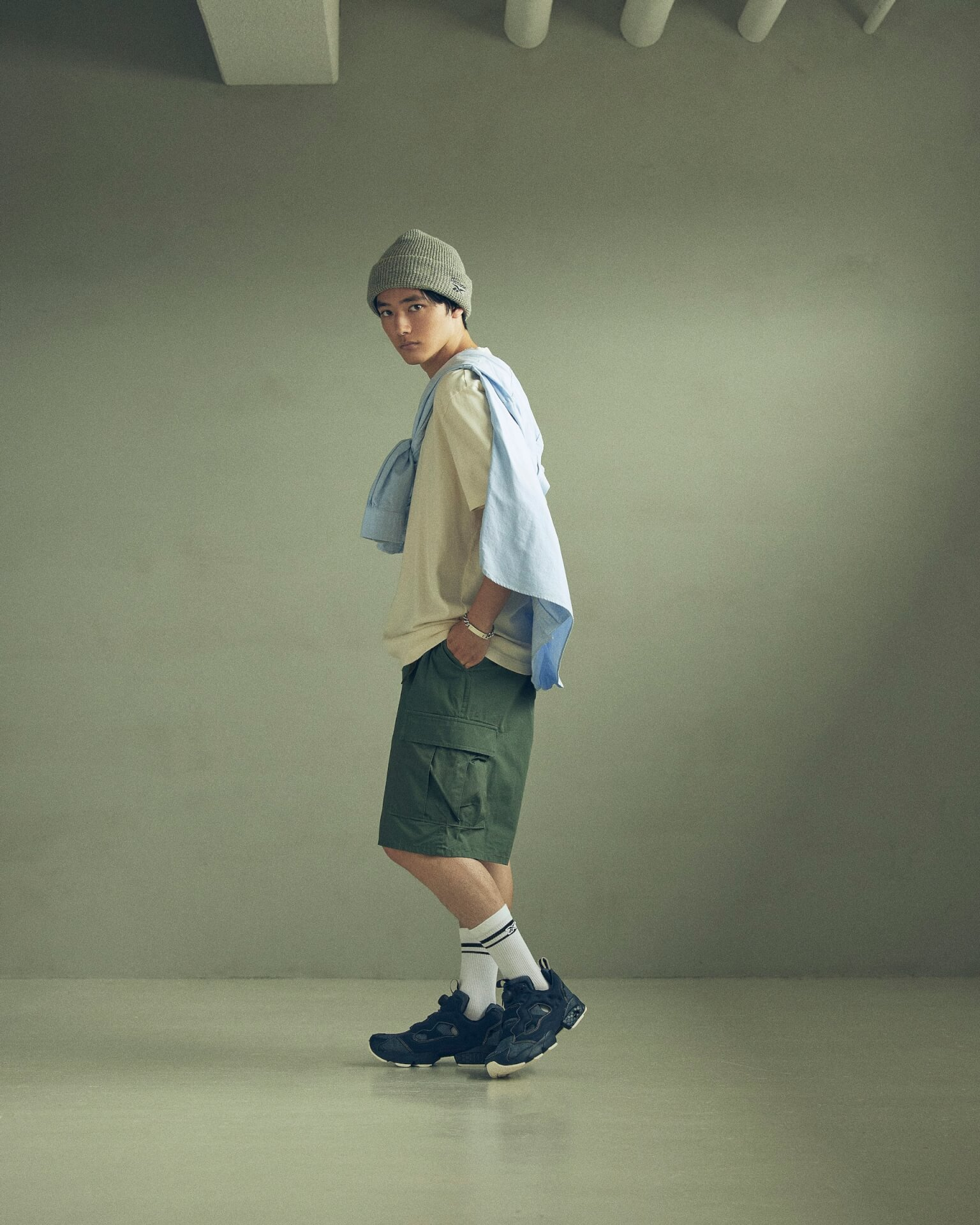 ReebokからリアルなデニムをイメージしたINSTAPUMP FURYの「DENIM PACK」が発売!櫻井海音とアンジュルム佐々木莉佳子がルックに登場 Fashion_210719_denimpack10
