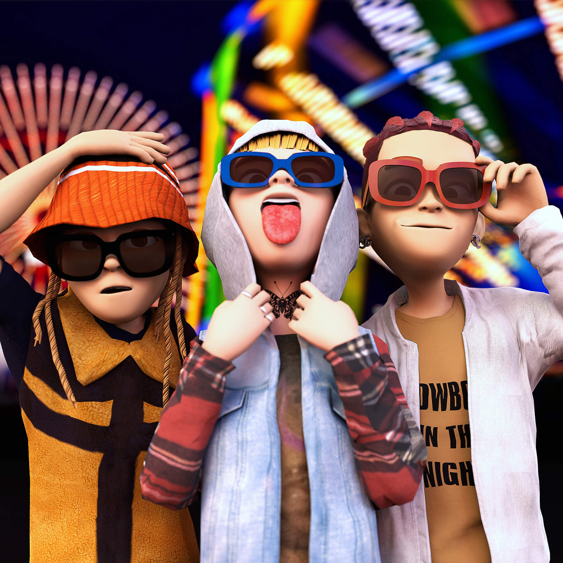 LEX、Only U、Yung sticky womによるコラボアルバム『COSMO WORLD』が本日配信リリース!KMがミキシング&マスタリングを担当 music210721_lex_onlyu_wom_1