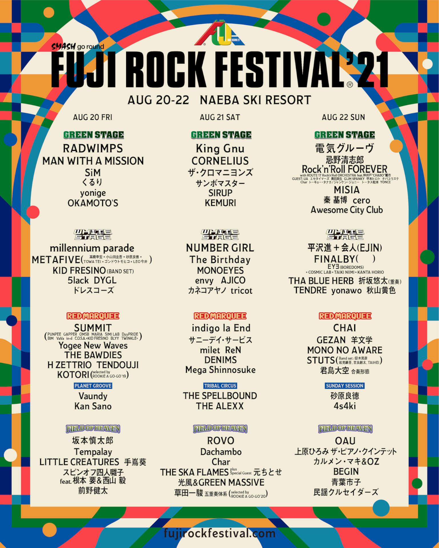 フジロック'21の公式アプリが登録開始!今年のフジロックは「禁酒」 music210730_fujirockfestival_main