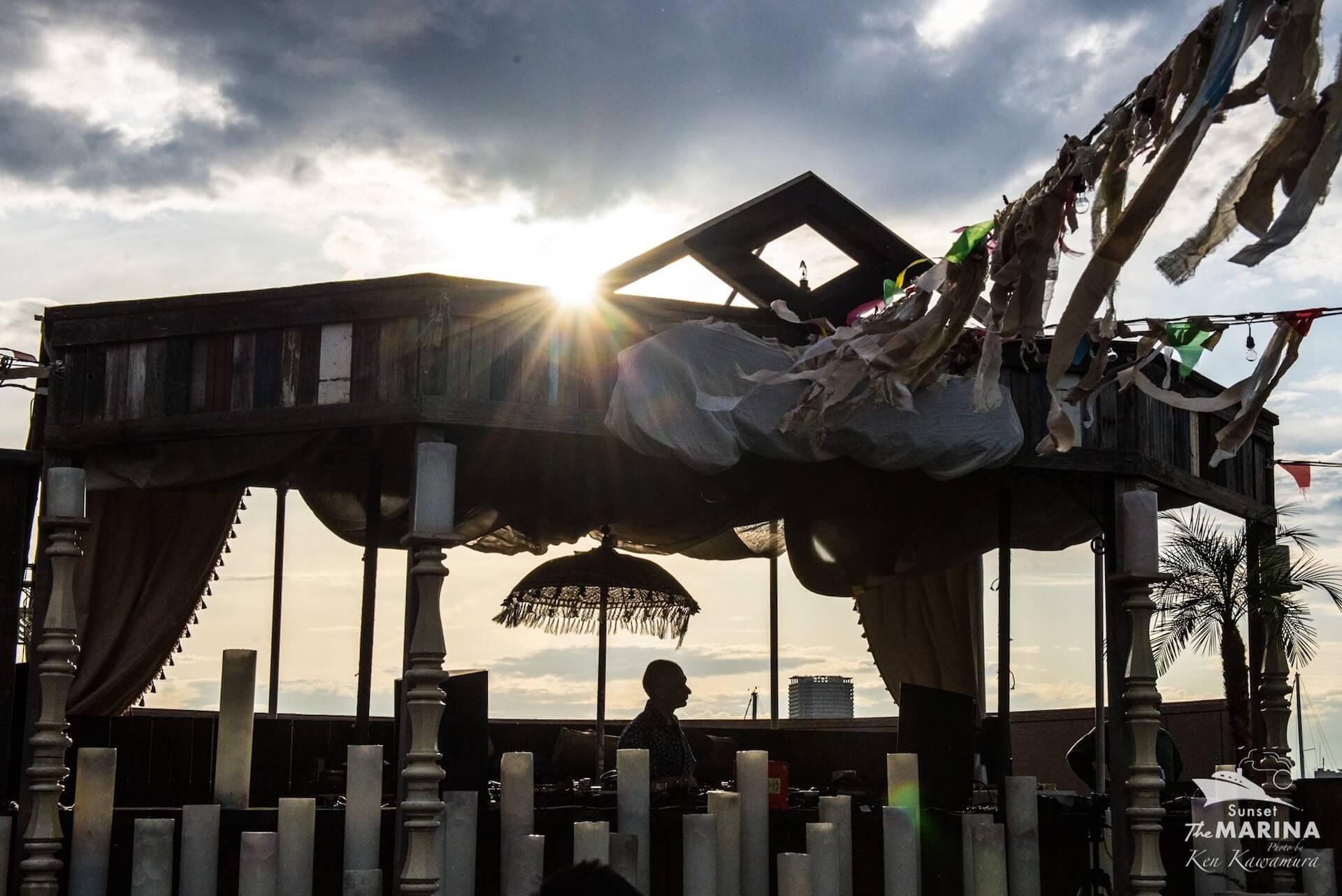 極上のサンセットパーティ<Sunset The MARINA>に冥丁らが登場 music210801-sunset-the-marina-1
