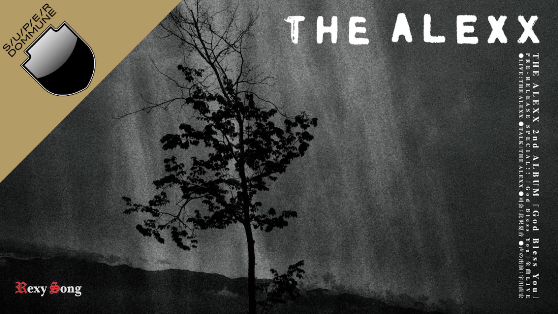 2ndアルバム『God Bless You』をリリースするTHE ALEXXがSUPER DOMMUNEで全曲ライブに挑戦! music210803_thealexx_superdommune_1