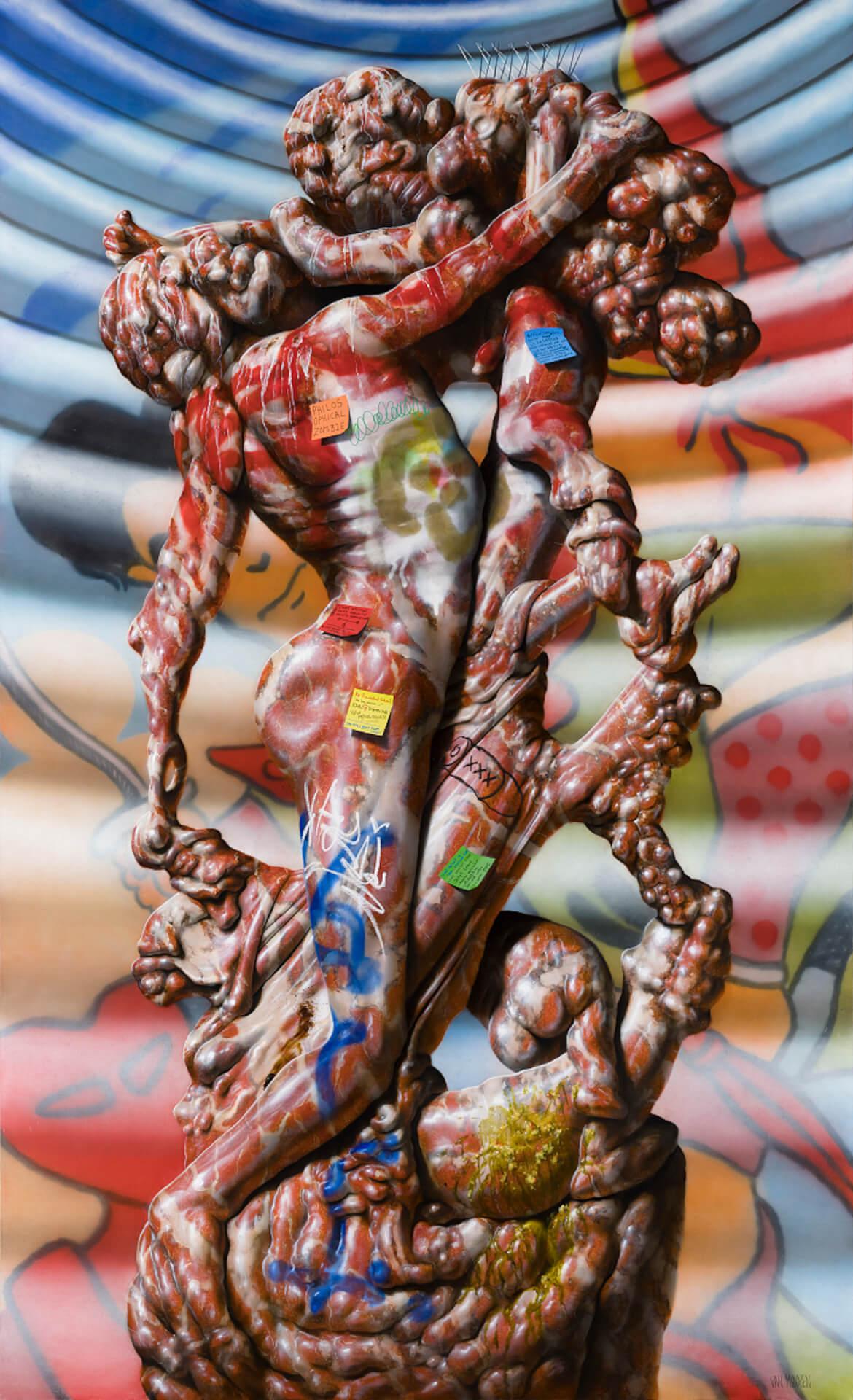 タトゥーを纏った肉塊を描くクリスチャン・レックス・ヴァン・ミネンの日本初個展が東京3会場で開催! art210804_nanzuka-05