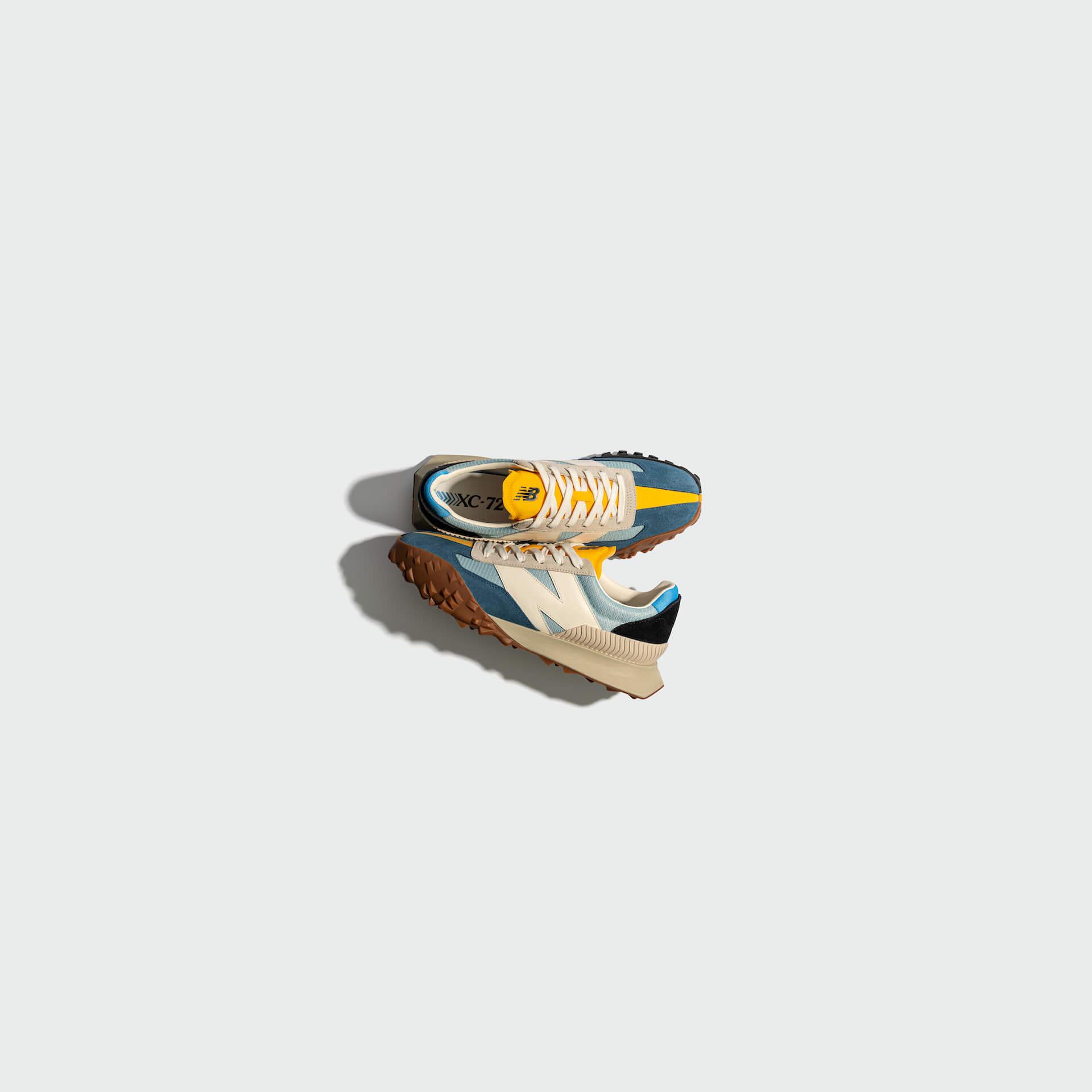ニューバランスから今年発売された新モデル「XC-72」に新色のブルーイエローが登場! life210910_newbalance_xc72_5
