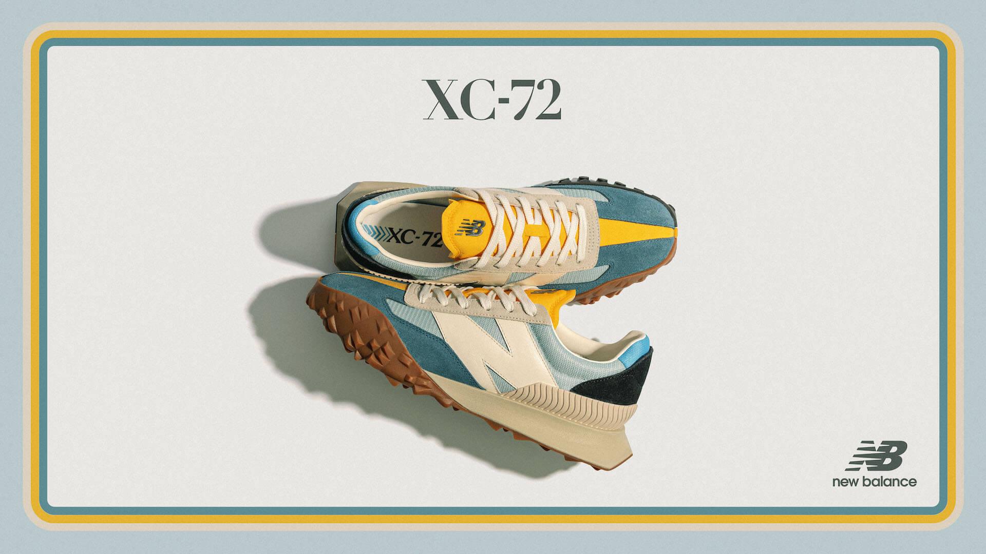 ニューバランスから今年発売された新モデル「XC-72」に新色のブルーイエローが登場! life210910_newbalance_xc72_7