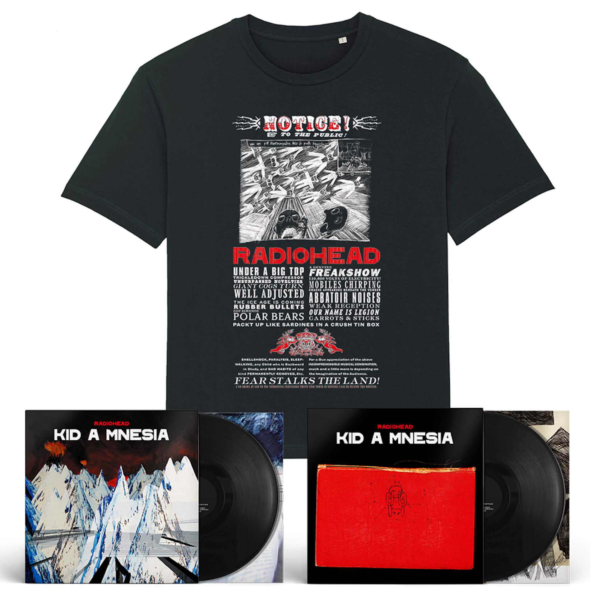 Radiohead『Kid A Mnesia』の日本限定バンドルが追加発売決定!最新オフィシャルTシャツも付属 music210915_radiohead_3