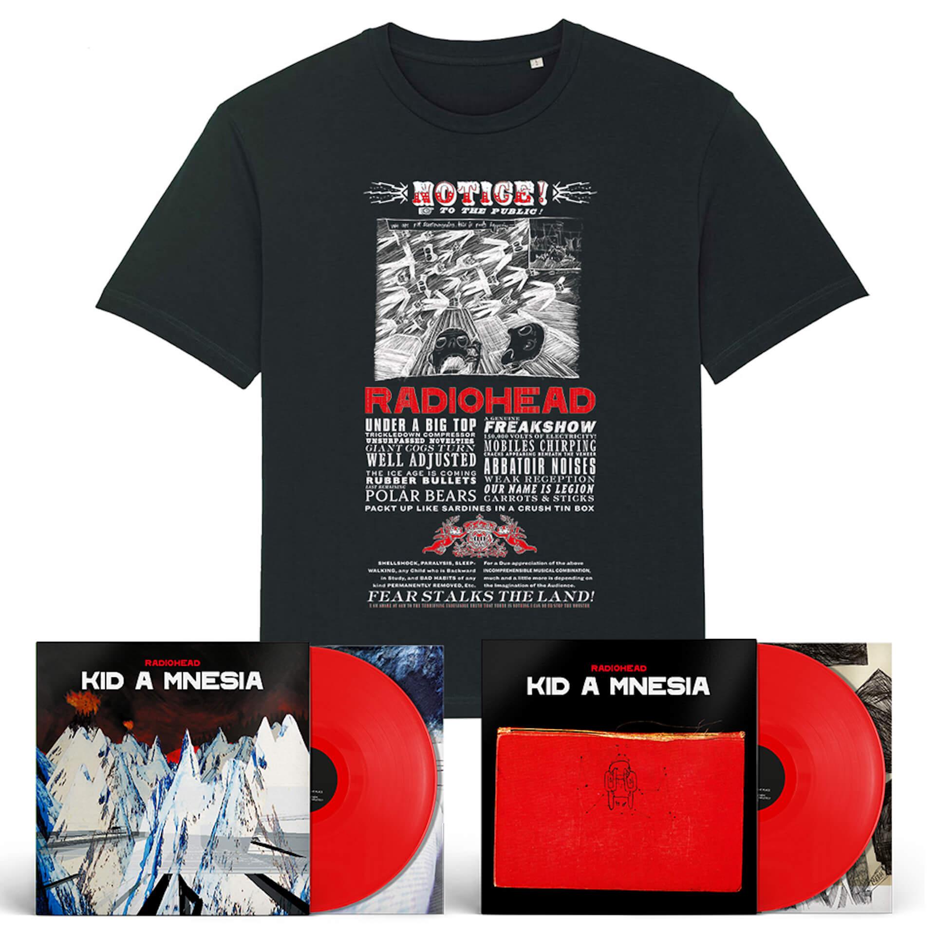 Radiohead『Kid A Mnesia』の日本限定バンドルが追加発売決定!最新オフィシャルTシャツも付属 music210915_radiohead_2