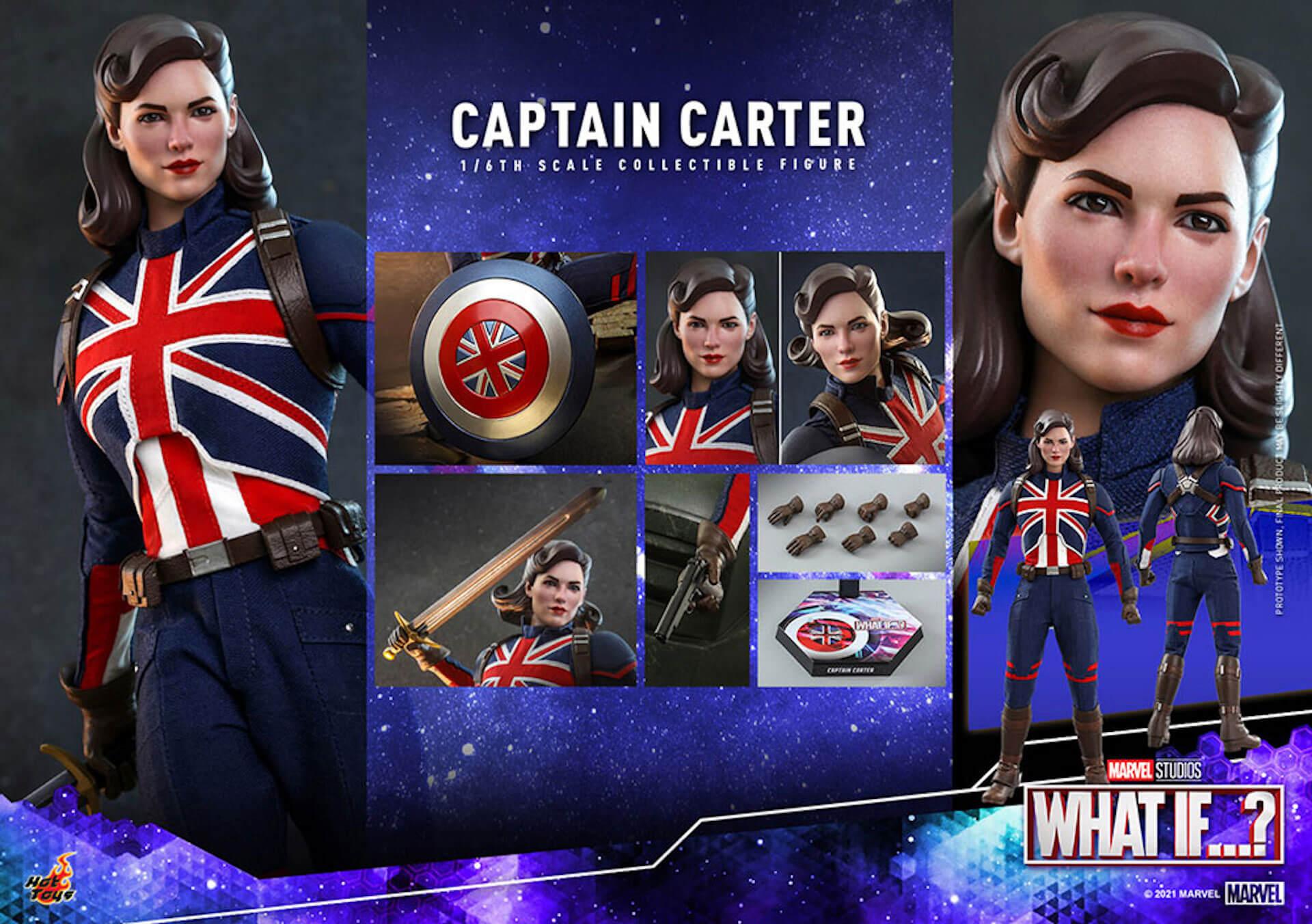 もしもの世界のヒーローがフィギュアに!マーベル・スタジオ『ホワット・イフ...?』のキャプテン・カーターがホットトイズより登場 art210921_captaincarter_hottoys_2