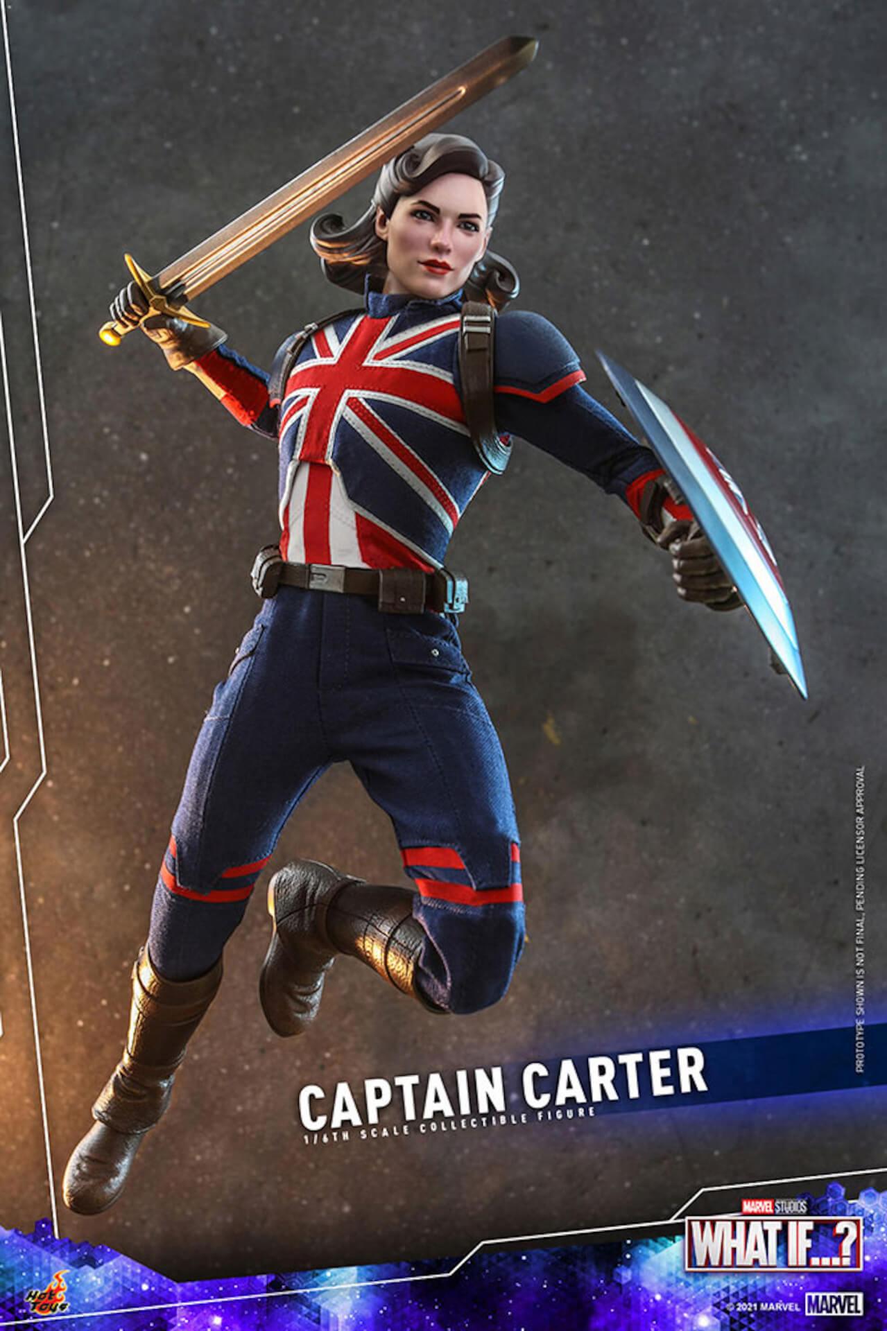 もしもの世界のヒーローがフィギュアに!マーベル・スタジオ『ホワット・イフ...?』のキャプテン・カーターがホットトイズより登場 art210921_captaincarter_hottoys_3