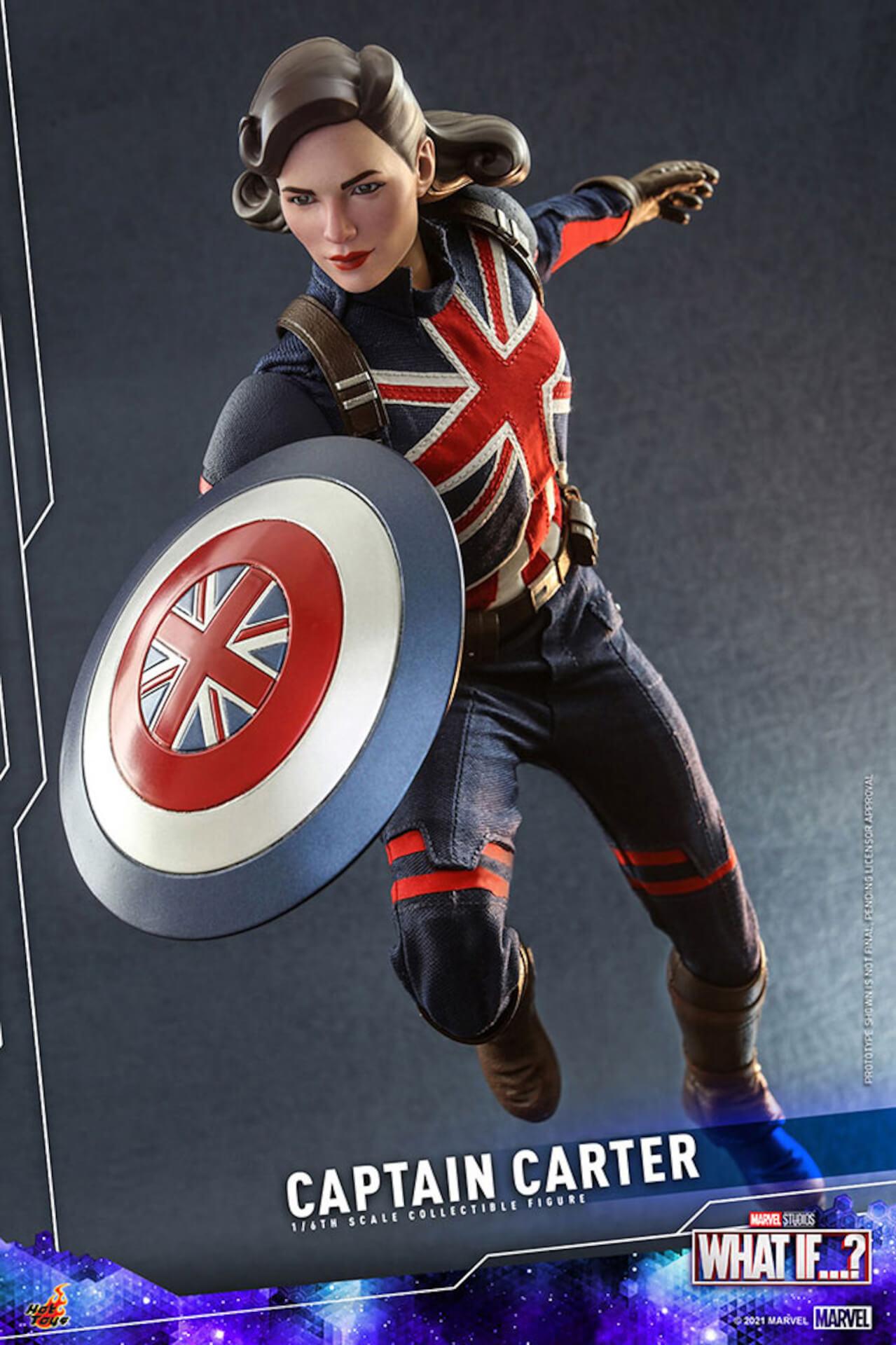 もしもの世界のヒーローがフィギュアに!マーベル・スタジオ『ホワット・イフ...?』のキャプテン・カーターがホットトイズより登場 art210921_captaincarter_hottoys_7