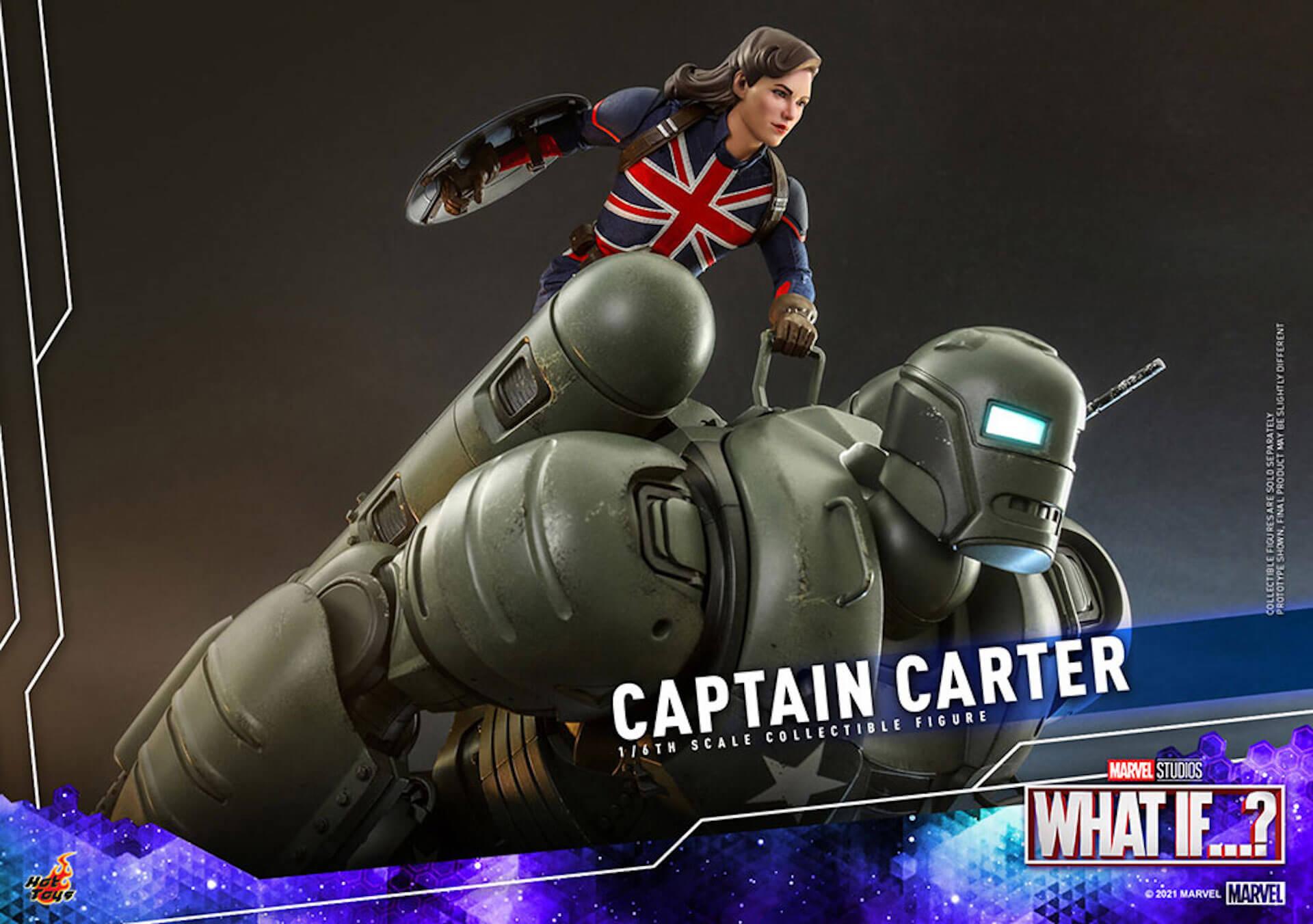 もしもの世界のヒーローがフィギュアに!マーベル・スタジオ『ホワット・イフ...?』のキャプテン・カーターがホットトイズより登場 art210921_captaincarter_hottoys_1