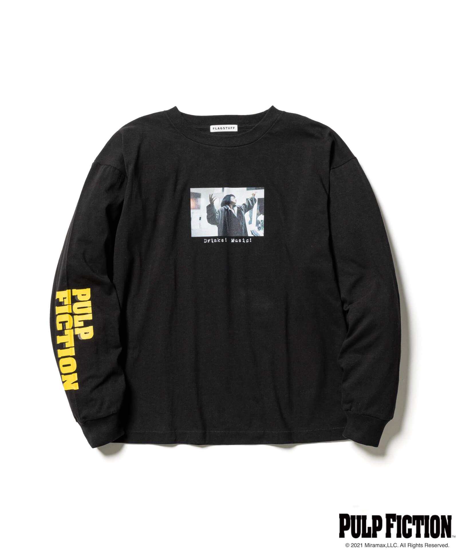 映画『パルプ・フィクション』とF-LAGSTUF-Fのオリジナルアパレルコレクションが発売決定!ユマ・サーマンプリントのTシャツも fashion211006_fs-pf-01