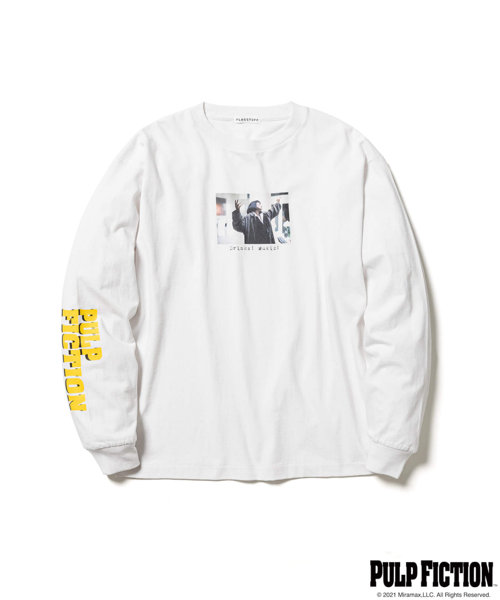 映画『パルプ・フィクション』とF-LAGSTUF-Fのオリジナルアパレルコレクションが発売決定!ユマ・サーマンプリントのTシャツも fashion211006_fs-pf-06