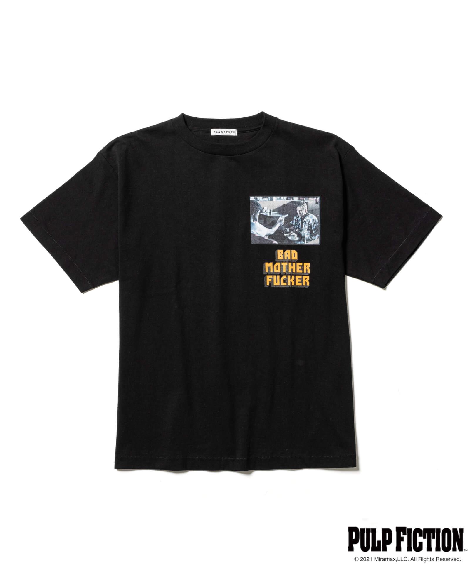 映画『パルプ・フィクション』とF-LAGSTUF-Fのオリジナルアパレルコレクションが発売決定!ユマ・サーマンプリントのTシャツも fashion211006_fs-pf-07