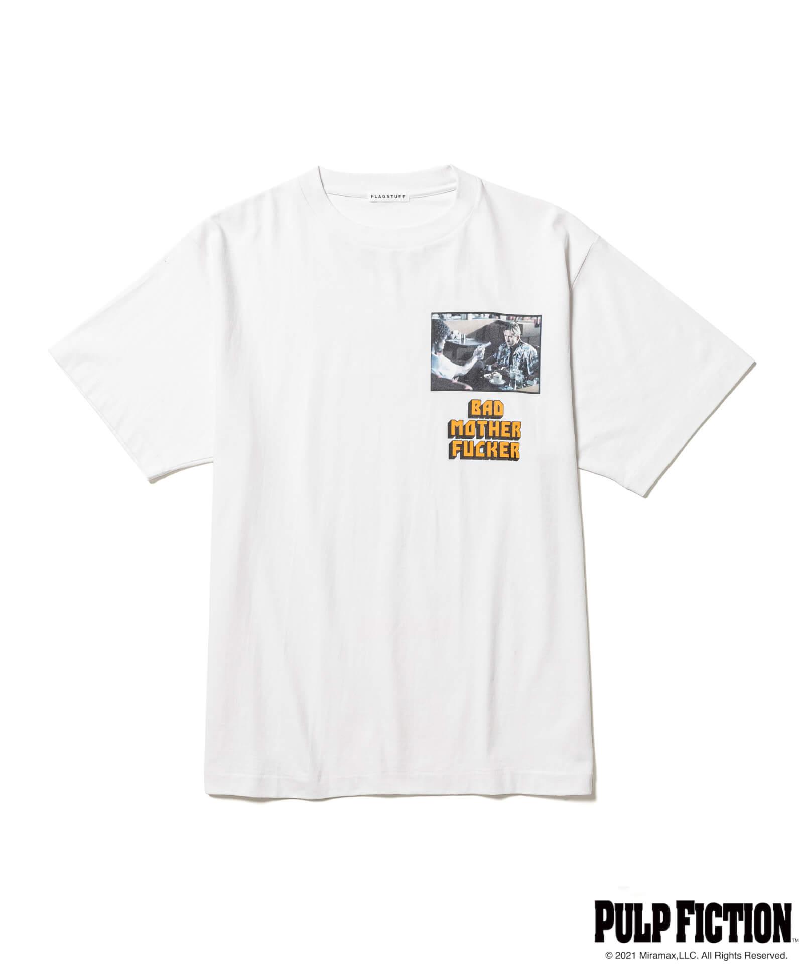 映画『パルプ・フィクション』とF-LAGSTUF-Fのオリジナルアパレルコレクションが発売決定!ユマ・サーマンプリントのTシャツも fashion211006_fs-pf-09