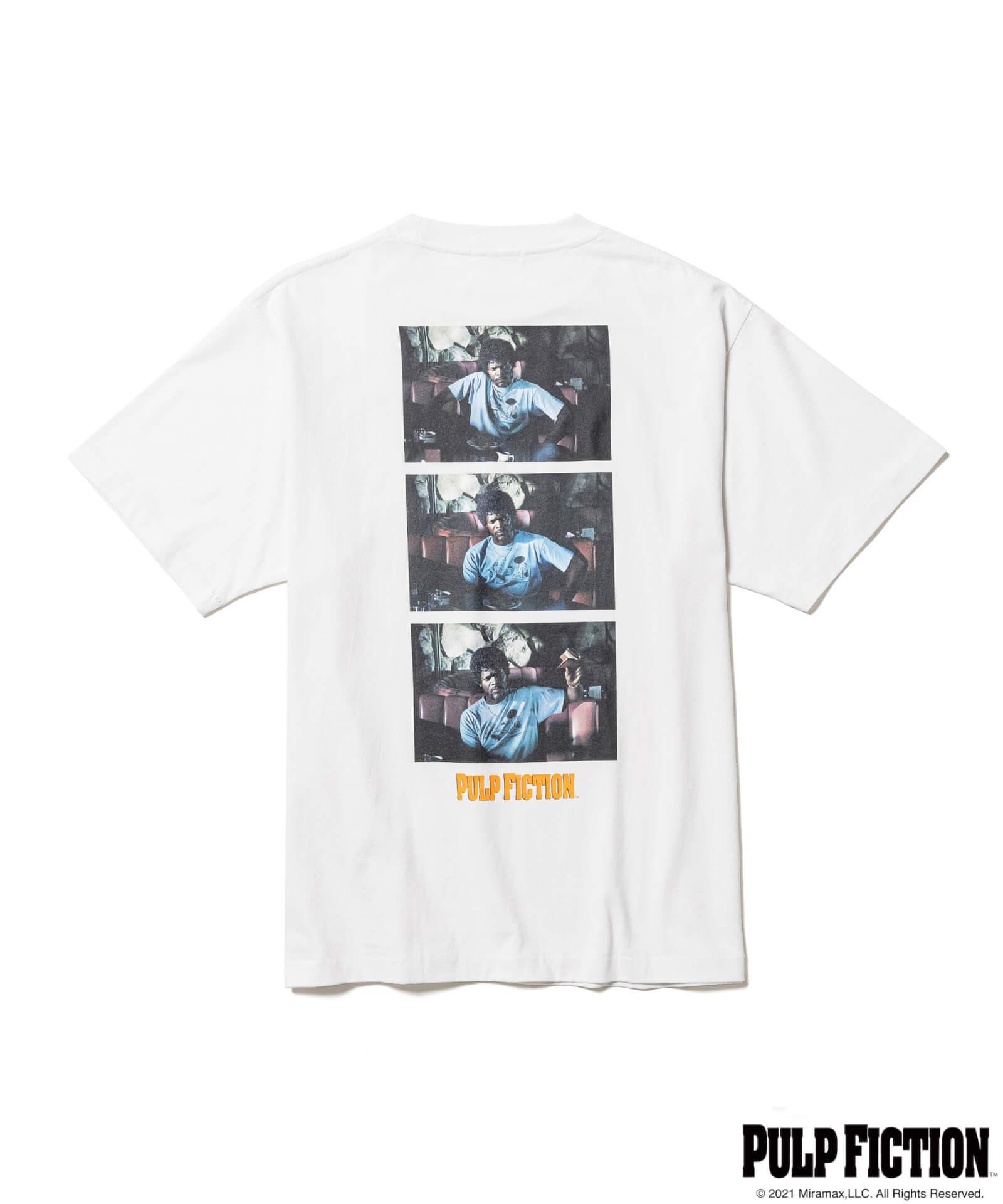 映画『パルプ・フィクション』とF-LAGSTUF-Fのオリジナルアパレルコレクションが発売決定!ユマ・サーマンプリントのTシャツも fashion211006_fs-pf-010