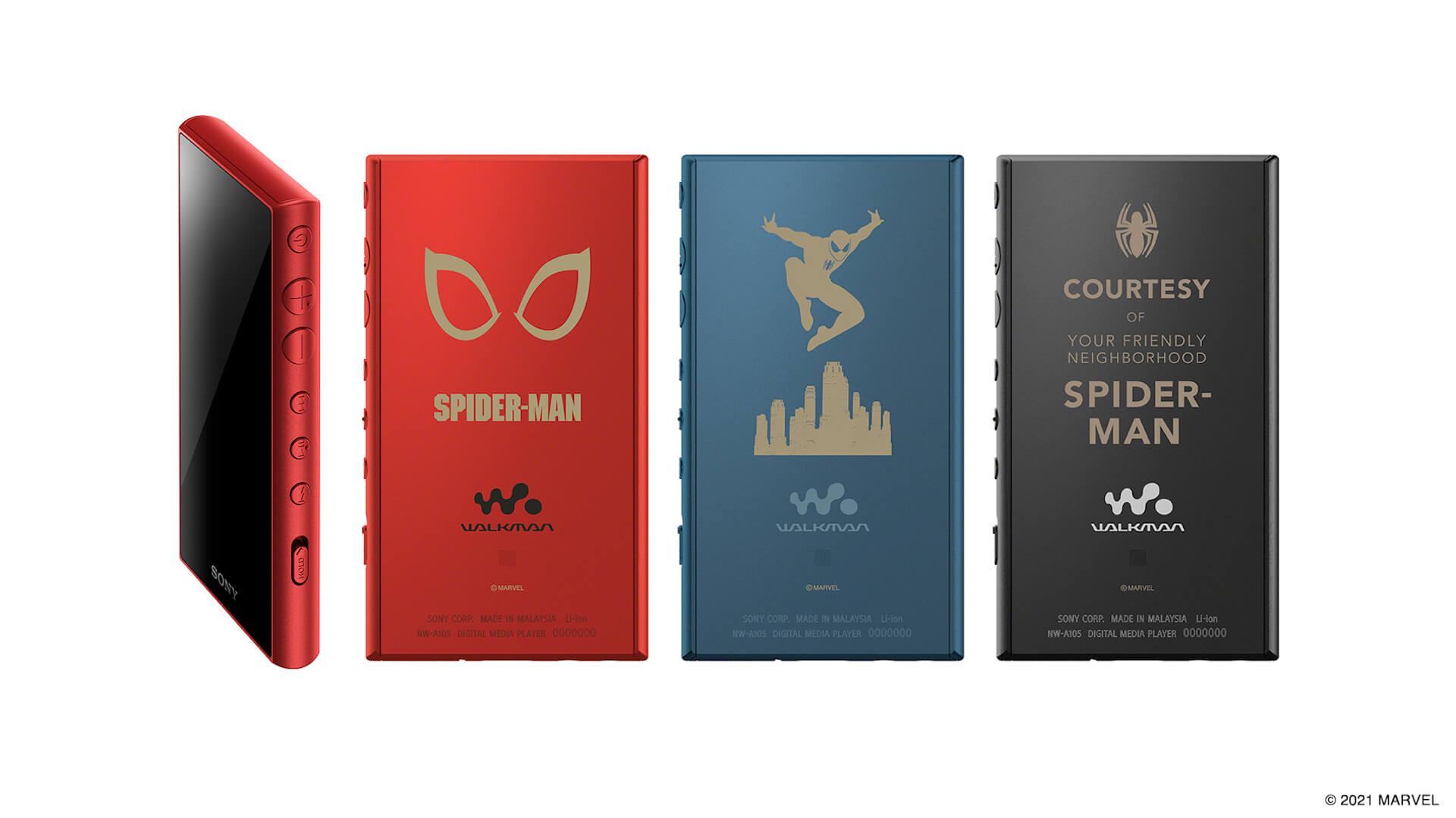 MARVELスパイダーマン仕様のソニーワイヤレスヘッドホン、ワイヤレススピーカー、ハイレゾ対応ウォークマンが発売決定!本日予約受付開始 tech211007_sony_spiderman_4