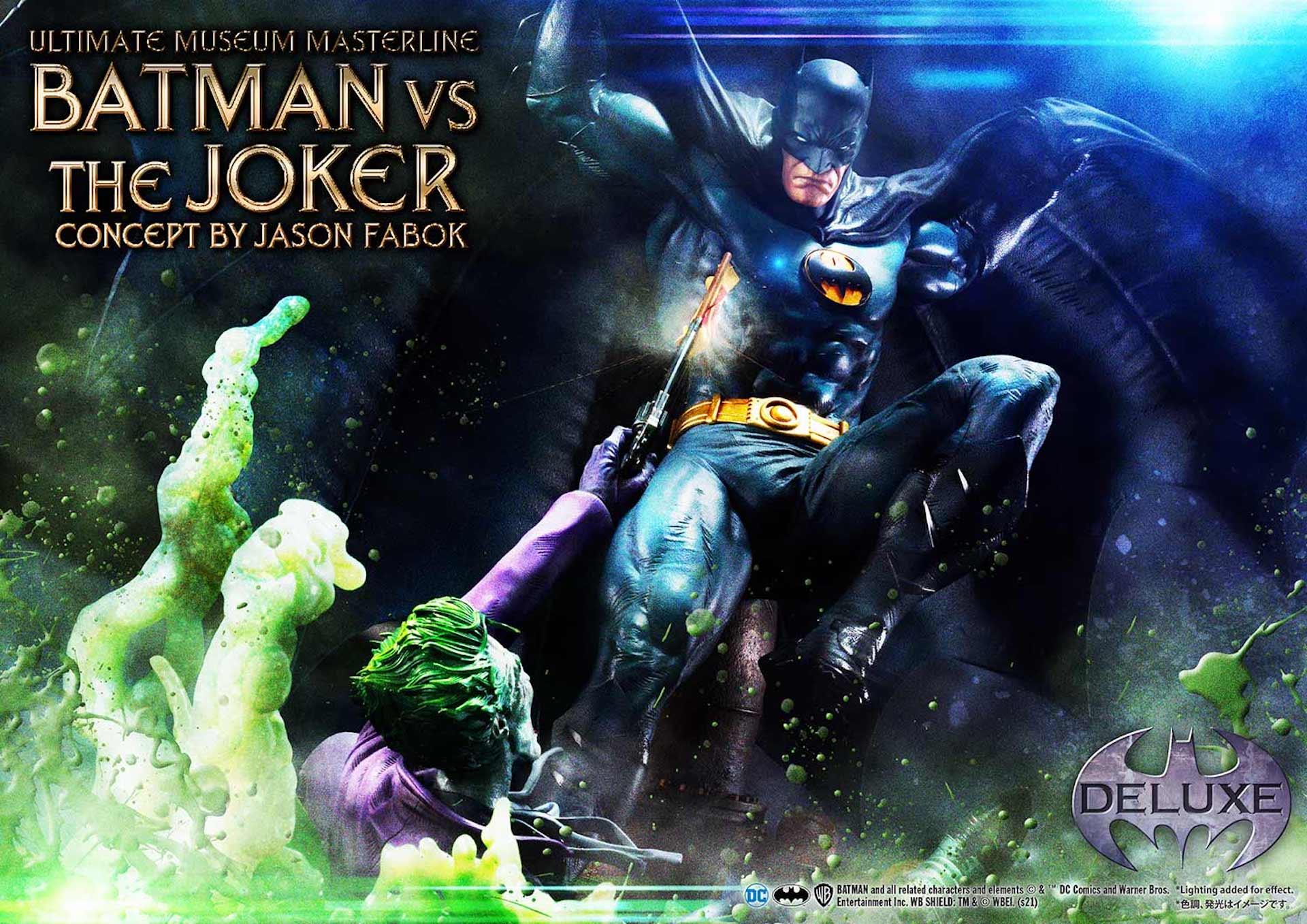 """バットマンとジョーカーによる永遠の戦いがフィギュアに!「バットマンVSジョーカー """"コンセプト by ジェイソン・ファボック""""」が予約受付スタート art211007_batman_joker_figure_2"""