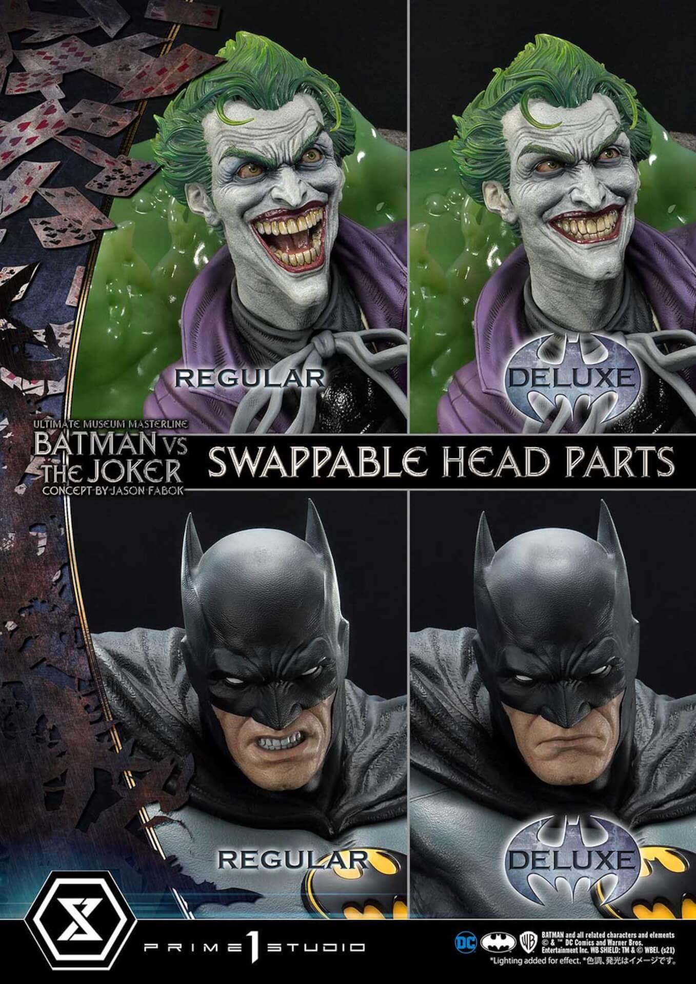 """バットマンとジョーカーによる永遠の戦いがフィギュアに!「バットマンVSジョーカー """"コンセプト by ジェイソン・ファボック""""」が予約受付スタート art211007_batman_joker_figure_5"""