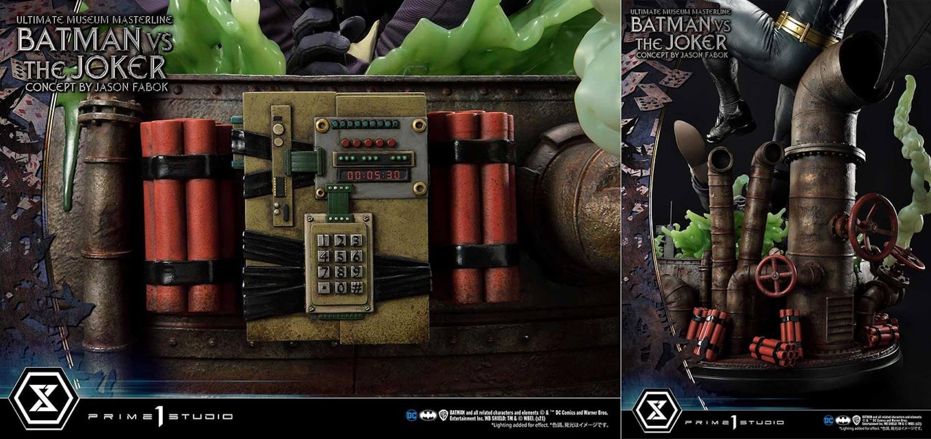 """バットマンとジョーカーによる永遠の戦いがフィギュアに!「バットマンVSジョーカー """"コンセプト by ジェイソン・ファボック""""」が予約受付スタート art211007_batman_joker_figure_6"""
