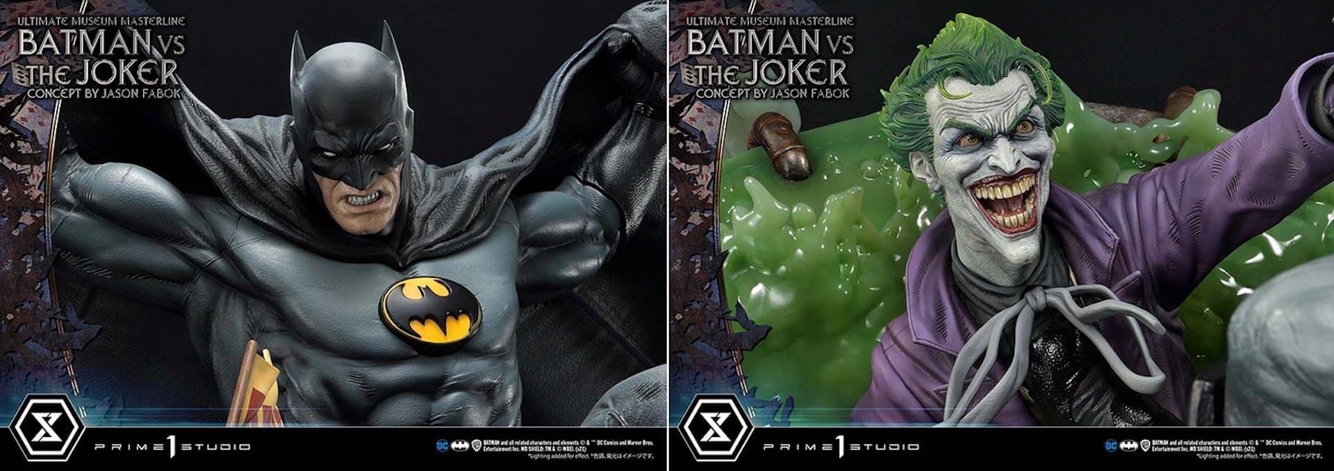 """バットマンとジョーカーによる永遠の戦いがフィギュアに!「バットマンVSジョーカー """"コンセプト by ジェイソン・ファボック""""」が予約受付スタート art211007_batman_joker_figure_7"""