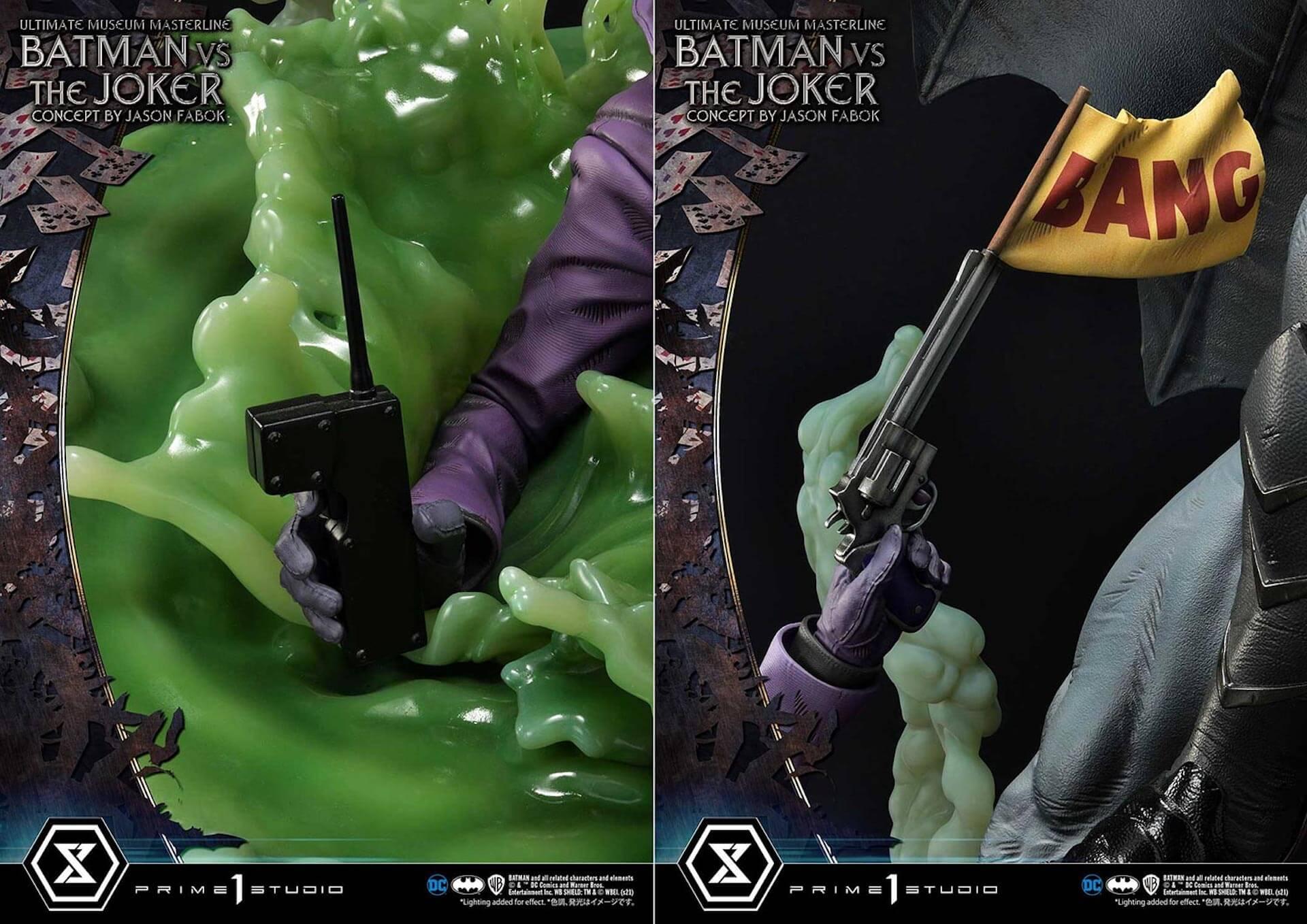 """バットマンとジョーカーによる永遠の戦いがフィギュアに!「バットマンVSジョーカー """"コンセプト by ジェイソン・ファボック""""」が予約受付スタート art211007_batman_joker_figure_1"""