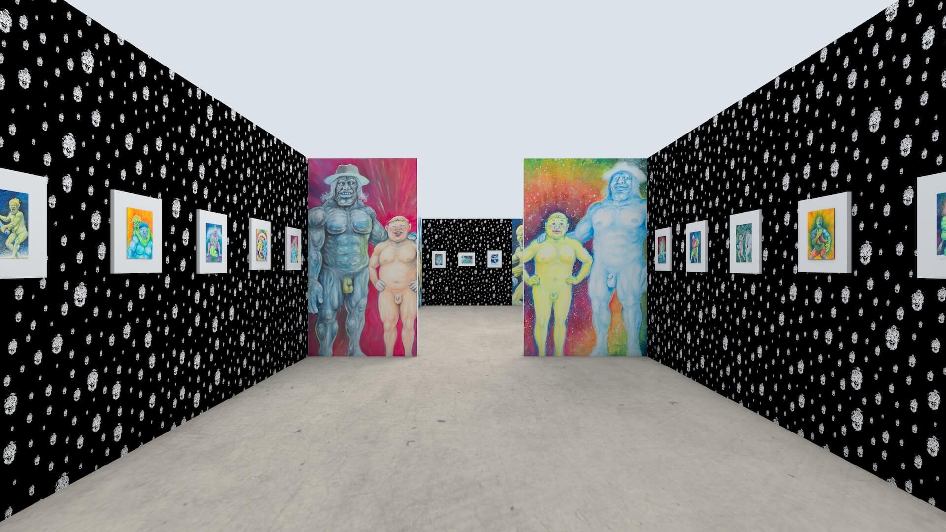 渋谷PARCOで謎の天才画家manksy ☆ gataro没後100年展が開催!記念グッズの販売やAR体験も art_211014_parco-03