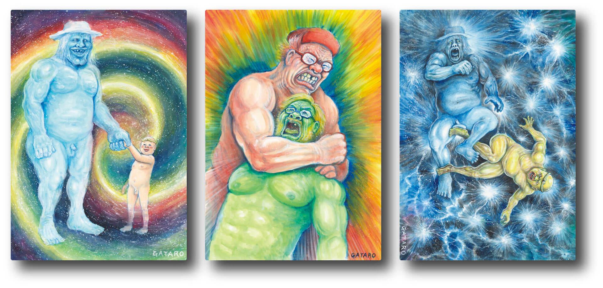 渋谷PARCOで謎の天才画家manksy ☆ gataro没後100年展が開催!記念グッズの販売やAR体験も art_211014_parco-07