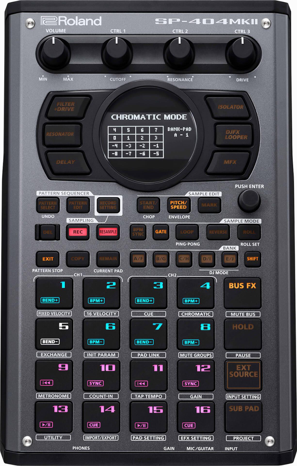 Rolandから最新サンプラー『SP-404MKII』が発売決定!ベロシティ&USB-Cも対応 tech211014_roland_sp404mk2_1