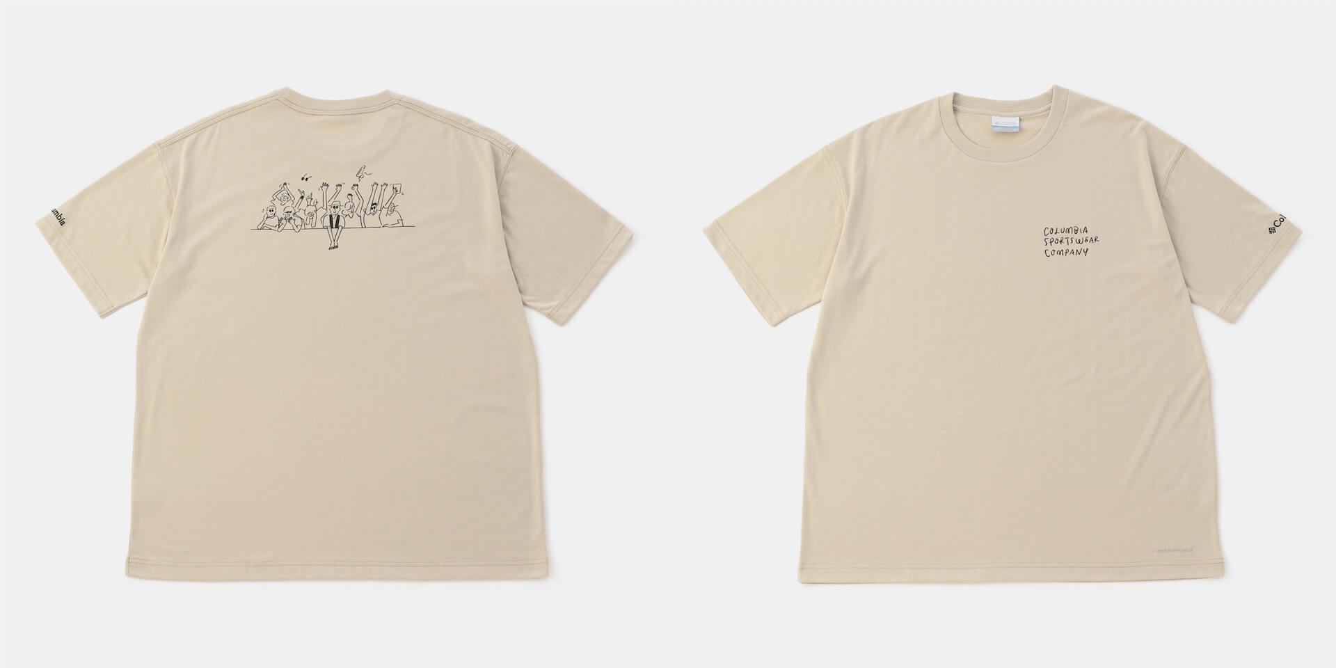 フジロック'21×ColumbiaコラボレーションTシャツが発売決定!長場雄「THE CATS」のイラストに注目 fation210611_FUJIROCK-nekoTshirt3