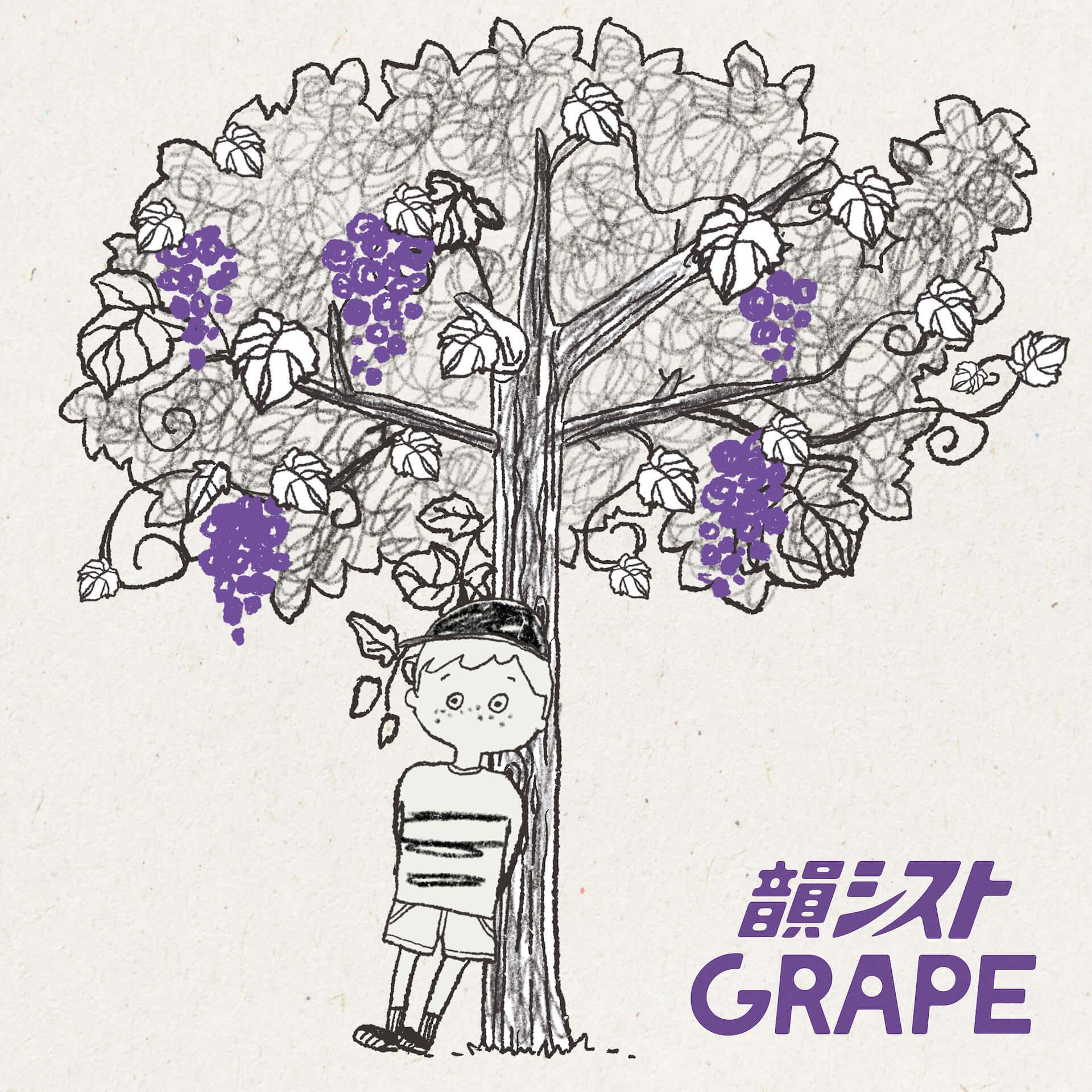 "BASIの脱退を発表した韻シストが3か月連続配信シングル3作目となる""GRAPE""を配信開始!全編アニメーションのMVも公開 music210630_insist_grape3"