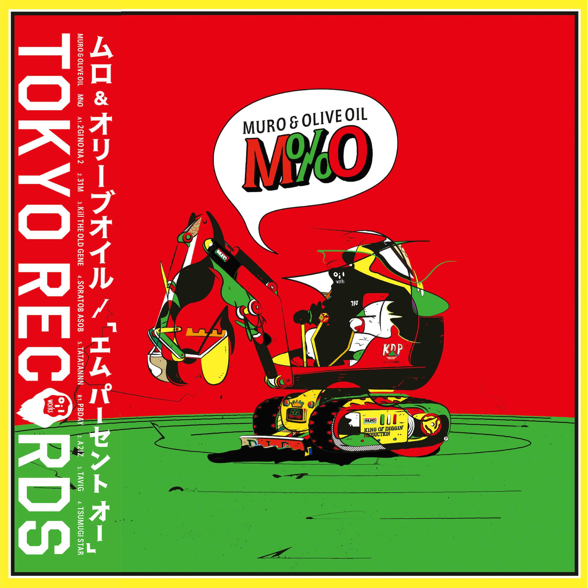 MURO&OLIVE OILによるコラボアルバムが限定LP『M%O』として〈Manhattan Records〉よりリリース! music210521_muro-olive-oil-210521_1