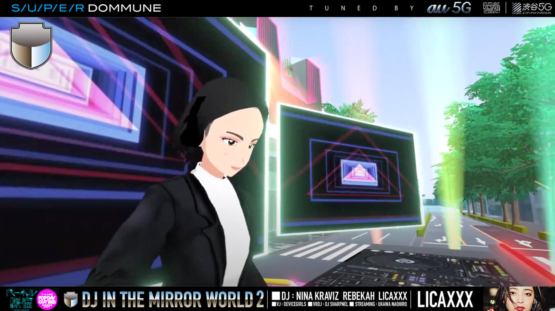 Nina Kraviz、Rebekah、Licaxxxが登場した<DJ IN THE MIRROR WORLD VOL.2>DJイベントのフル尺映像がアーカイブとして公開中! music210603_virtualharajuku_2